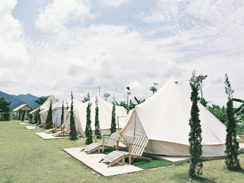 Eco chic teepees provide total comfort and relaxation